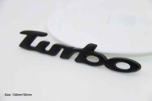 Tuning Turbo Cars (B191 turbo black car sticker 3D emblem badge badge lettering car sticker tuning)
