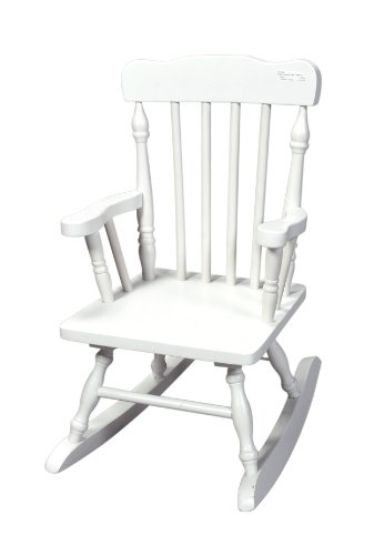Gift Mark Child's Colonial Rocking Chair, White Adult Princess Rocking Chair