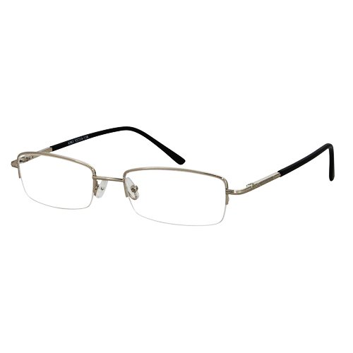 EyeBuyExpress Rectangle Silver Reading Glasses Magnification Strength - Magnification Glasses Without