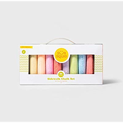 Sidewalk Chalk - 60 Piece in Assorted Colors - Non-Toxic and Washable Kids Creative Art - Sun Squad: Office Products