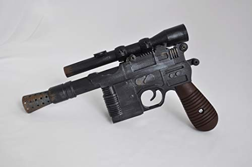 Designed By DL-44 Han Solo Blaster from Star Wars Full Scale, Free Star Wars Banner, Plastic Light and Durable. Safe, Does not -