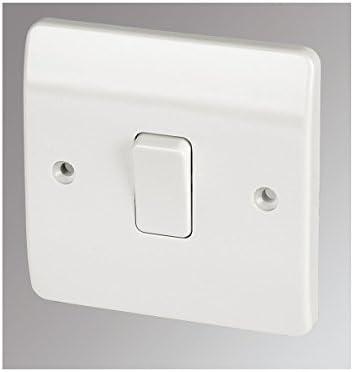 MK 1-Gang 2-Way 10AX Light Switch White by MK