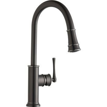 Elkay LKEC2031AS Explore Single Lever Pull-Down Kitchen Faucet, Antique Steel by Elkay