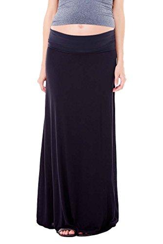 Ingrid & Isabel Women's Maternity Flowy Maxi Skirt, Black, X-Small