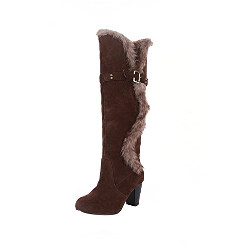 Dear Time over knee winter boot snow warm long boots Brown 5iwaJ