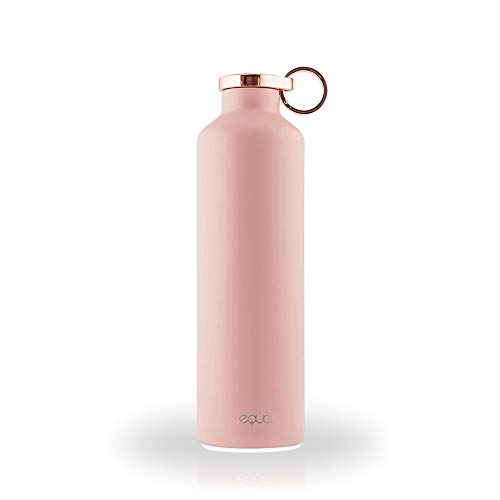 EQUA Smart Water Bottle - 23 oz - Bluetooth Water Intake Tracking with Light Up Reminders - Stainless Steel Double Wall Insulated (Pink Blush)