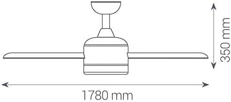 Sulion 072216 Taunus Ventilador de techo sin luz con 3 palas de ...