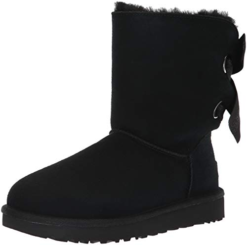 UGG Women's W Customizable Bailey Bow Short Fashion Boot, Black, 8 M US (Uggs Bailey Women Bow)