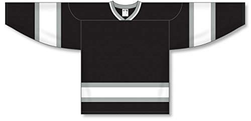Old LA Black Sleeve Stripes Pro Plain Blank Hockey Jerseys