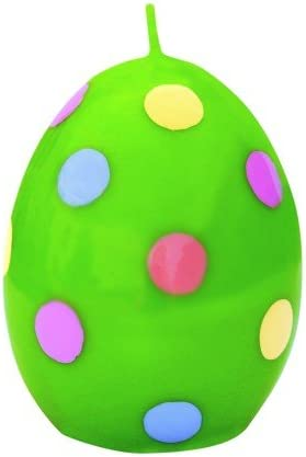 H 10.5cm Easter candle Dotted Egg green