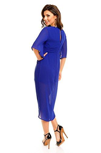 Mayaadi - Vestido - para mujer royal blau (Sw 59)