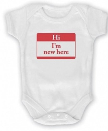 white-hi-im-new-here-infant-one-piece-bodysuit