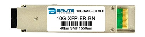 Brute Networks 10G-XFP-ER-BN - 10GBASE-ER 40km 1550nm XFP Transceiver (Compatible with OEM PN# 10G-XFP-ER) ()