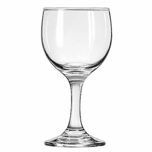 Libbey Glassware 3769 Embassy Wine Glass, 6-1/2 oz. (Pack of 24)