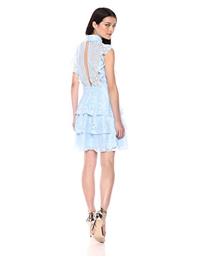Wild Cocktail Dress Flounce Lace Women's Meadow Cornflower 7wfCW7aqrx