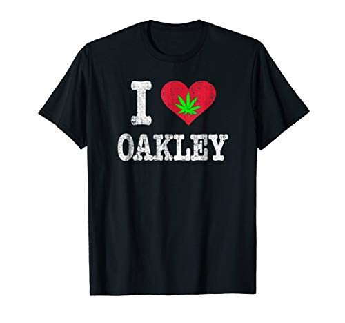 Retro I Love Oakley CA and Pot Stoner T-Shirt, used for sale  Delivered anywhere in USA
