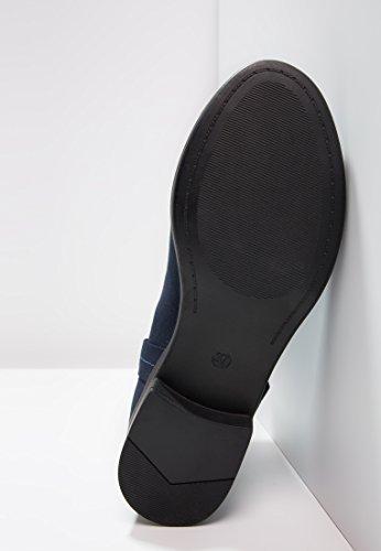 Even eleganti Blu Stivaletti gambale sportivi ed grigio da Stivali donna nero blu Jodhpur Stivali con in Stivaletti amp;ODD Flat Chelsea o corto rwqASrR