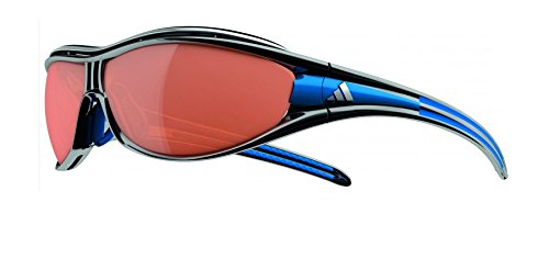 Adidas A126/00 6111 Black / Blue Evil Eye Pro L Wrap Sunglasses Cycling, - Adidas Sunglasses Cycling