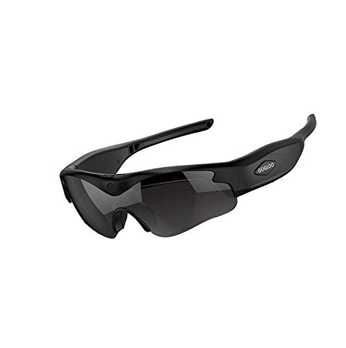 Gogloo Camera on Glasses Polarized Lens Sunglasses With 1080p HD Video Camera - Wide Angle View & UV Protection Eyewear, Lightweight Frame, Unisex Design - For Sports, Riding, Night, Motorcycle & More