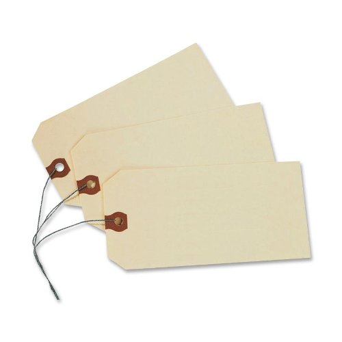 "Avery Manila ""G"" Shipping Tags, Wired, 2.75 x 1.375 Inches, Pack of 1000 (12601)"