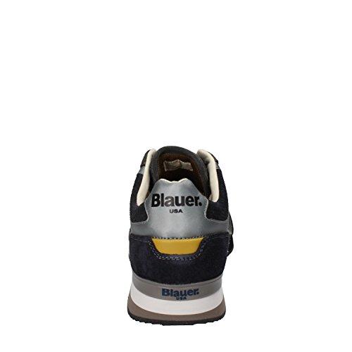 BLAUER USA , Baskets pour homme gris gris/bleu