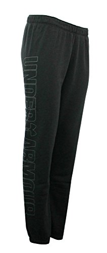 Under Armour Women's UA Favorite Athletic FITTED Fleece pants (M, BLACK/GREY)