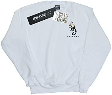 Absolute Cult Friends Herren Marcel Breast Print Sweatshirt Weiß XXX-Large