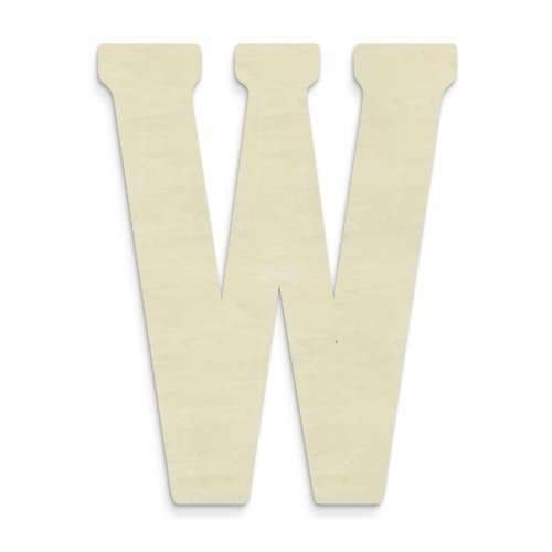 UNFINISHEDWOODCO 23-Inch Unfinished Wood Letter, Large, Letter W (Letters Oversized Wood)