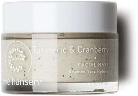 Eve Hansen Exfoliating Turmeric Bentonite Clay Mask | Skin Exfoliator Face Mask with Turmeric Extract, Cranberry Seeds, Kaolin Clay and Vitamin E | Pore Minimizer and Brightening Facial Mask | 1.7 oz