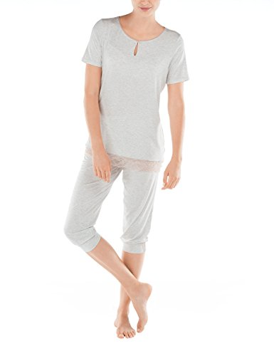 Calida, Pijama Entero para Mujer GREY (SOFT grey melé 834)