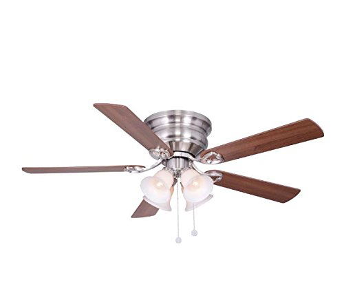 Hampton Bay Brushed Ceiling Fan (Hampton Bay Clarkston 52 in. Indoor Brushed Nickel Ceiling Fan With Reversible Blades)