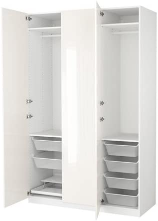 Armadi Ikea Ante Scorrevoli Opinioni.Ikea Armadio Bianco Fardal Lucido Bianco 6386 82311 1010 Amazon