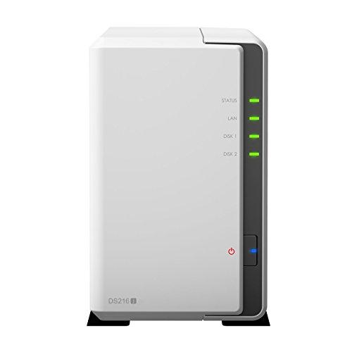 Synology DiskStation 2-bay 3.5-Inches NAS server 1.0GHz, 512MB RAM, 1xGigabit (DS216J )
