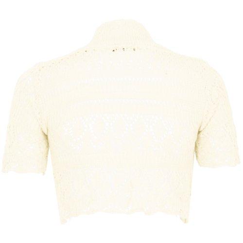 Rebeca de punto para mujer, disponible en varios tamaños y colores crema