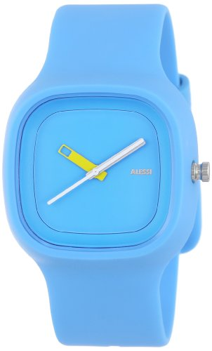 Alessi Kaj Watch (Alessi Men's AL10012 Kaj Polyurethane Light Blue Designed by Karim Rashid Watch )
