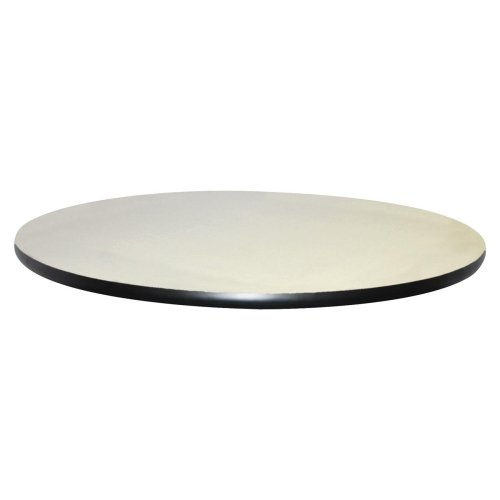 Lorell Hospitality Breakroom Table Top - Round - 42quot; - Vinyl, Particleboard - Light Gray ()