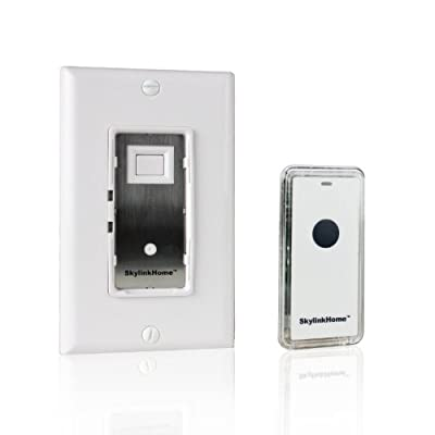 SkylinkHome WE-318 In-Wall Lighting Receiver On/ Off, Relay or Dimmer Switch with Wireless Snap On Transmitter for Home Automation and Control (1000 Watts)