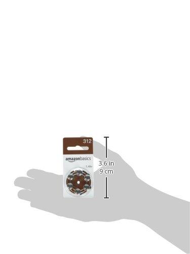 AmazonBasics Hearing Aid Batteries A312, 60 Pack by AmazonBasics (Image #5)