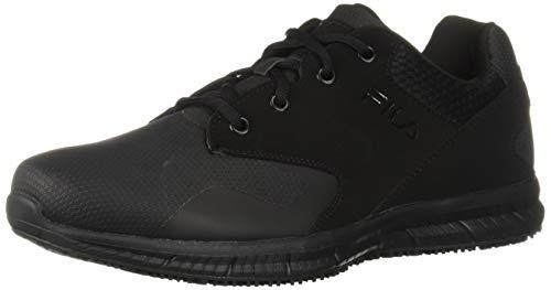 Fila Men's Memory Layers Slip Resistant Work Shoe Food Service, Black, 13 D US