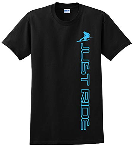 JUST RIDE Wakeboard Youth Shirt , Sky Blue)