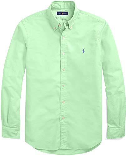 Ralph Oxford - Ralph Lauren Men Solid Sport Oxford Shirt (L, NewLime)