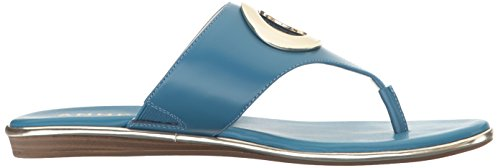 Anne Klein Flip Leather Blue Flop Women's Medium Gia rrq7xRv