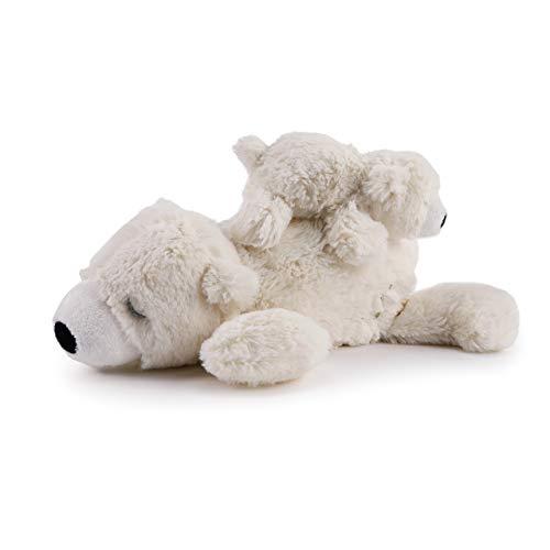 DEMDACO Polar Bear Mom and Baby Musical White 10 inch Plush Fabric Stuffed Figure Toy