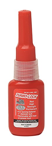 Turbo-Lock 14-010 Red Permanent Threadlocker Series 14 - Equivalent to Loctite 271. 10ml Bottles - Case of 12