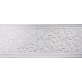 Allen + Roth Paintable White Unpasted Damask Wallpaper Border  15 Ft X 7 In.