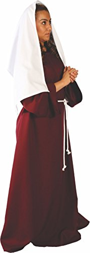 Alexanders Costumes Women's Biblical Peasant Lady, Burgundy One Size ()