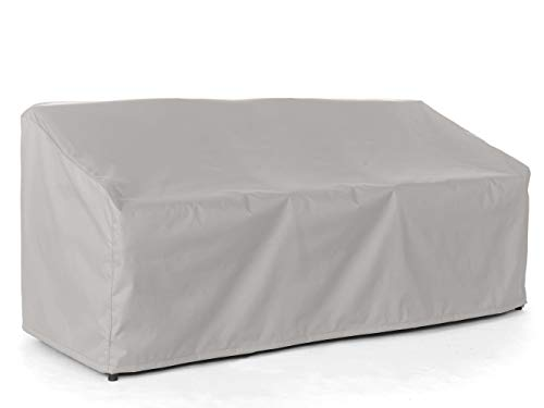 Covermates - Outdoor Patio Sofa Covers - Fits 94 in Width, 40 in Depth and 40 in Height - Ultima Ripstop - 600D Fade Resistant Poly - Breathable Covered Ventilation - 7 Year Warranty - Ripstop Grey