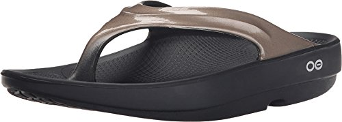 OOFOS Women's Oolala Thong, Black/Latte, 7 M US]()