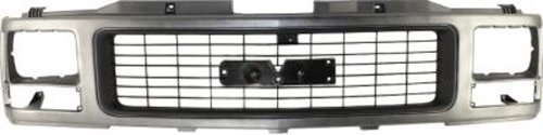 CPP Silver Grille Assembly for GMC Pickup, Suburban, Yukon GM1200356