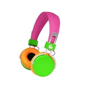 Urban Beatz M-HL720 Hi-Light Power Headphones, Pink/Green/Orange (Discontinued by Manufacturer)